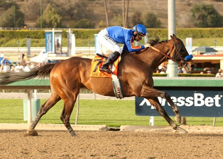 Game On Dude and Mike Smith are victorious in the Santa Anita Handicap.