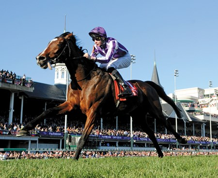 St. Nicholas Abby  wins the Breeders' Cup Turf  with jockey, and trainer Aidan O'Brien's son, Joseph O'Brien.