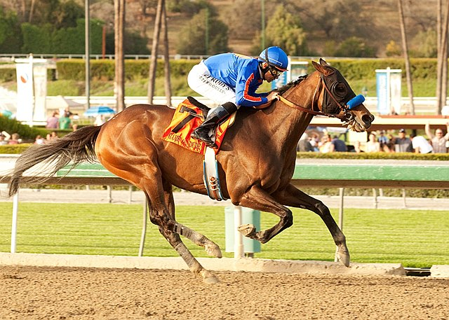 Experts thought Game On Dude had lost a step, but the gallant old gelding proved them wrong with a history-making third victory in the $750,000 Grade I Santa Anita Handicap at Santa Anita Park.