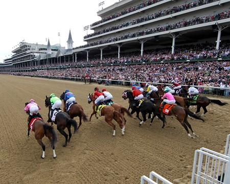 The field for the 140th Running of the Kentucky Oaks head under the Twin Spires for the first time at Churchill Downs.