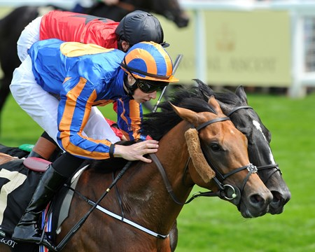 Jospeh O'Brien guides Gale Force Ten to victory in the Jersey Stakes June 19, 2013.