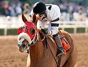 Warren's Veneda wins the 2015 Santa Margarita Stakes.