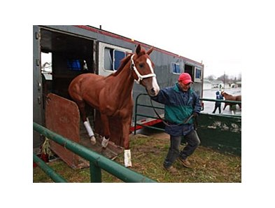Among the first arrivals from Florida were Lucky Red Doll, a 3 year old filly from the Pat McBurney Stable.