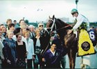 Cat Thief in the winner's circle after the 1999 Breeder's Cup Classic.