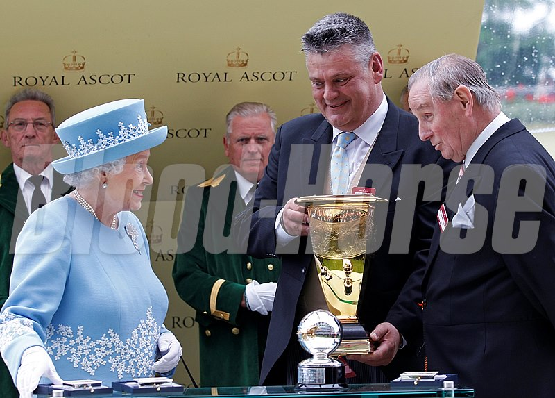 The Queen with the owners of Lethal Force following the Diamond Jubilee Stakes.