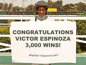 Victor Espinoza Collects 3,000th Victory