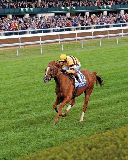 Coming in at #2 was the Shadwell Turf Mile (gr. IT) at Keeneland Racecourse.