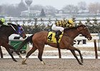 "Isabelle comes home strong to win the Broadway Stakes.<br><a target=""blank"" href=""http://photos.bloodhorse.com/AtTheRaces-1/At-the-Races-2015/i-94ZvQmK"">Order This Photo</a>"