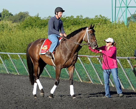 Caption: Hardest Core comes off the track. 