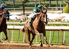 Stellar Wind dominates the Santa Anita Oaks.