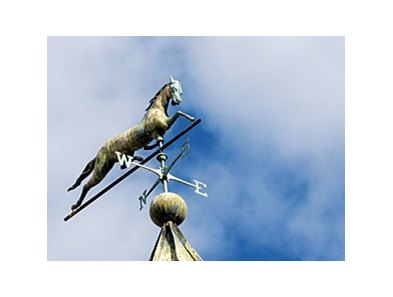 Weathervane on the stallion barn at Vinery Stud near Lexington, Ky.