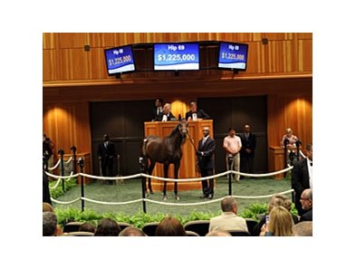 Hip 69, a filly by Dynaformer, sold for $1,225,000.