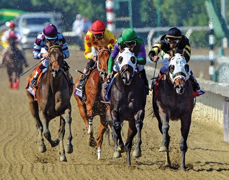 Hightail wins the 2012 Breeders' Cup Juvenile Sprint at Santa Anita.