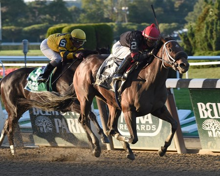 Paulassilverlining captures the 2014 Grade II Matron Stakes at Belmont Park.