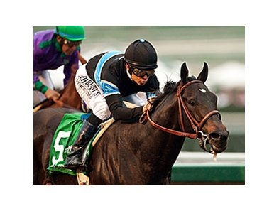 Shared Belief and Mike Smith roll to victory in the San Antonio Invitational Stakes.