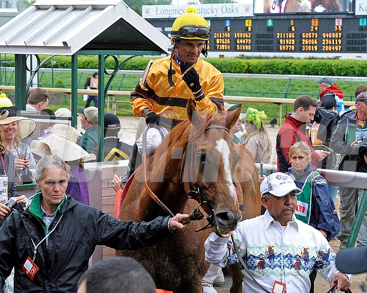 Caption:  Wise Dan wins the Woodford Reserve  at Churchill Downs near Louisville, Ky. on May 4, 2013, 