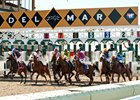 "Start of the first race opening day at the Del Mar autumn meet, dubbed the ""Bing Crosby Season"" by the track."