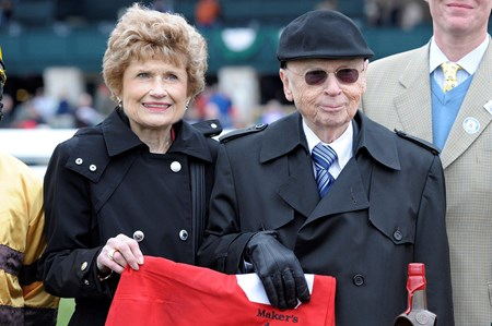 Owners Morton Fink, and his wife Elaine after Wise Dan won the Maker's 46 Mile.