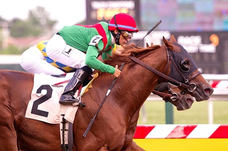 Phelps is part of the partnership that owns Cerro, shown here winning the Canonero II Stakes at Pimlico in 2013.