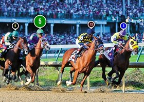 2014 Kentucky Derby Race Sequence