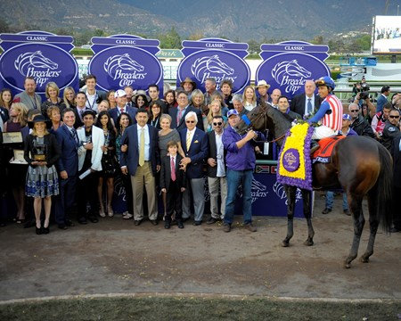 Happy connections with jockey Martin Garcia and Bayern after the Breeders' Cup Classic.