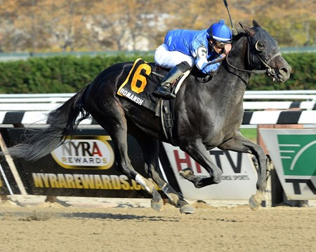Romansh more than made up for his two previous unplaced efforts when he rolled to a convincing 9 1/4-length victory in the Grade III Discovery Handicap at Aqueduct Racetrack in New York.