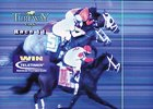 TV Screen of the official finish photo from the Spiral Stakes.