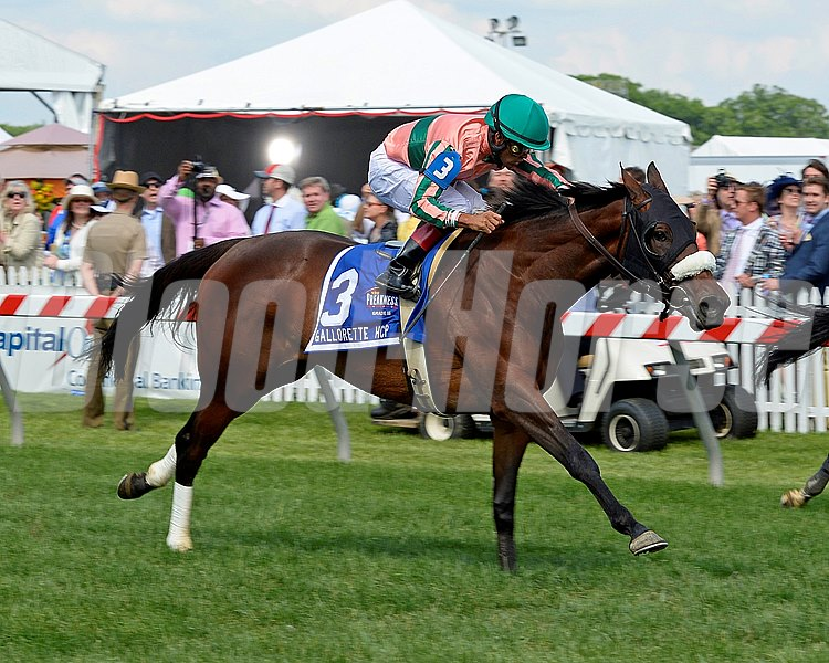 Caption: Somali Lemonade with Luis Saez wins the Gallorette Handicap (gr. III)