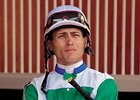 Santa Anita leading jockey Garrett Gomez will be riding at Keeneland in April.