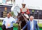 Orb, Joel, Medina, and Shug in the Kentucky Derby winner's circle.