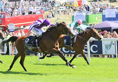St Nicholas Abbey (#3) wins the Coronation Cup, defeatring Midday, at Epsom 3/6/2011
