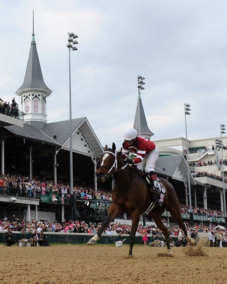 Winchell Thoroughbreds' Untapable sat a clean trip while wide down the backstretch, then pulled well clear of My Miss Sophia to win the $1 million Longines Kentucky Oaks (gr. I) by 4 1/2 lengths.