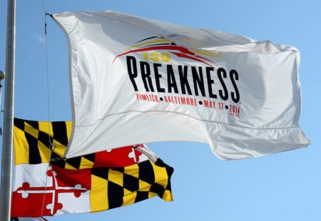 Caption: Preakness flag