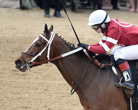 Untapable winning the Kentuck Oaks.
