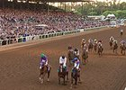 Santa Anita grandstand during the Breeders' Cup Classic.
