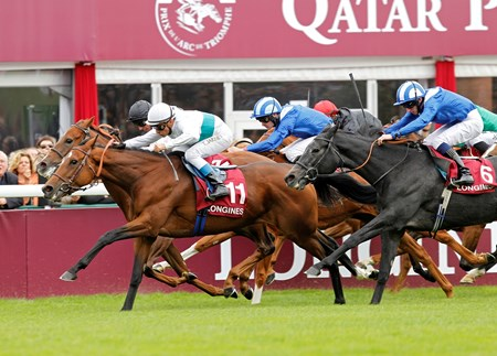 George Strawbridge's homebred We Are gamely charged between rivals and was up in time at Longchamp to win the Prix de l'Opera Longines (Fr-I), her first victory at the group I level after being previously denied in the category via disqualification.