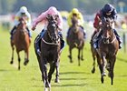 "The Fugue leaves the others behind to win the Darley Yorkshire Oaks.<br><a target=""blank"" href=""http://photos.bloodhorse.com/AtTheRaces-1/at-the-races-2013/27257665_QgCqdh#!i=2716953330&k=7XchsGd"">Order This Photo</a>"