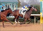 Turn to Lass (2) leads All Electric to the wire to win the Martha Washington Stakes at Oaklawn Park.