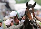 "Hal Wiggins congratulates Calvin Borel after winning the Kentucky Oaks with Rachel Alexandra.<br><a target=""blank"" href=""http://www.bloodhorse.com/horse-racing/photo-store?ref=http%3A%2F%2Fpictopia.com%2Fperl%2Fgal%3Fprovider_id%3D368%26ptp_photo_id%3D8078527%26ref%3Dstory"">Order This Photo</a>"