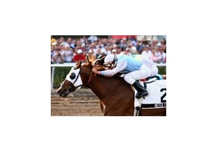 Mister Fotis and Rafael Bejarano win the Richter Scale Breeders' Cup Sprint at Gulfstream Park.