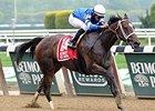 "Wedding Toast rolls to victory in the Ruffian Stakes.<br><a target=""blank"" href=""http://photos.bloodhorse.com/AtTheRaces-1/At-the-Races-2015/i-CSf46nJ"">Order This Photo</a>"