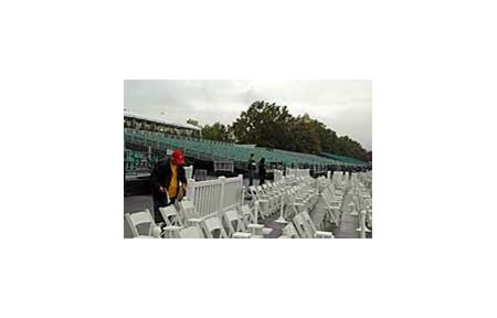 Monmouth Park's temporary seating for the Breeders' Cup.