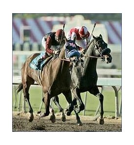 Texcess, left, edges out Cheroot to win the California Cup Classic.