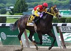 Trinniberg defeated Currency Swap in the seven-furlong Woody Stephens Stakes at Belmont Park in June.