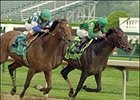 Perfect Drift, winning the 2004 Stephen Foster, is one of two horses seeking a second Hawthorne Gold Cup.