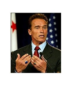 California governor-elect Arnold Schwarzenegger  might be good for racing.