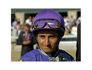 Leading jockey Rafael Bejarano was inured when his mount collapsed at Santa Anita.