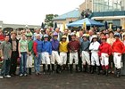Graduates and second-year students from the North American Racing Academy at Turfway Park.