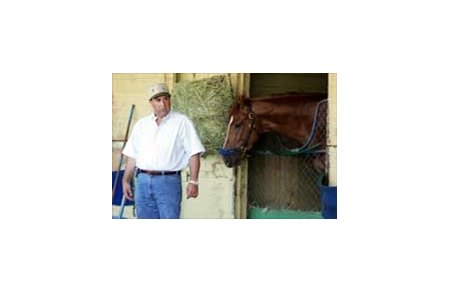 Sal Russo, with Belmont entry Reverberate.