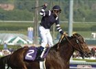 Longshot Adoration, with Pat Valenzuela aboard, wires 20th Breeders' Cup Distaff.
